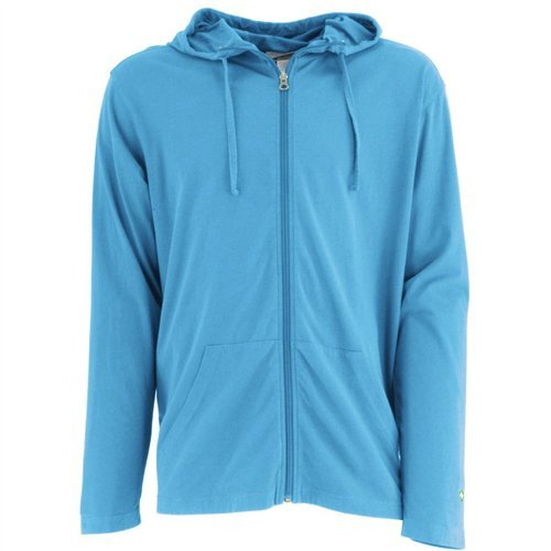 White Sierra Men's Bug Free Jersey Full Zip Hoody, Niagara Blue, Large