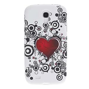 CL - Amor del corazón Pintura Patrón Funda de plástico para Samsung i9500 Galaxy S4