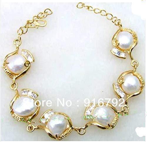 Quality Baroque Pearl - White Baroque Pearl Bracelet