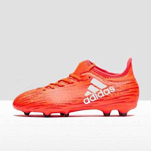 adidas X 16.3 Fg J, Botas de Fútbol para Niños Red