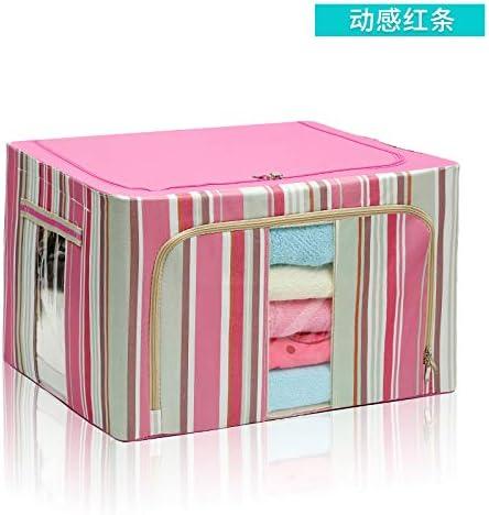 WAINIDE Caja de Acabado Textil Oxford, Caja de Almacenamiento, Caja de recepción de Ropa, Bolsas de recepción de Tela pequeñas, Medianas y Grandes, 44L (50 * 40 * 22 cm), Barra roja dinámica: Amazon.es: Hogar