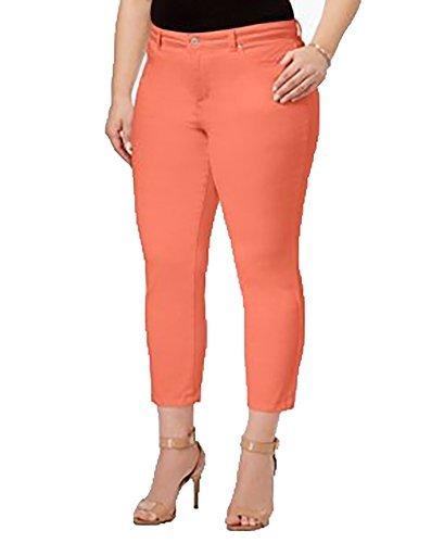 Slimming Twill Pants - Charter Club Womens Plus Bristol Tummy Slimming Twill Capri Pants Orange 14W