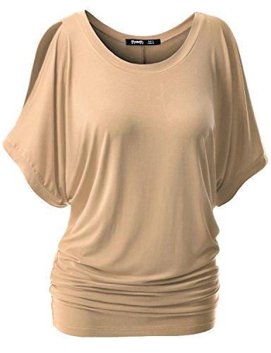 TWINTH Womens Shoulder Sleeve Dolman