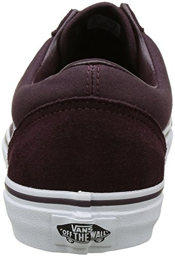 Brown Adultos Canvas Marrón para Unisex Old Vans Zapatillas Skool White Suede Iron True 1q4ffO
