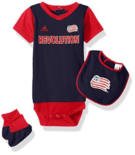 - Outerstuff MLS New England Revolution Boys Creeper Bib & Booty Set, Dark Navy, 3-6 Months