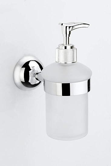 ARYAN Glass Liquid Soap Dispenser for Bathroom and Wash Basin (High Grade 304 Stainless Steel) � SHINE Series