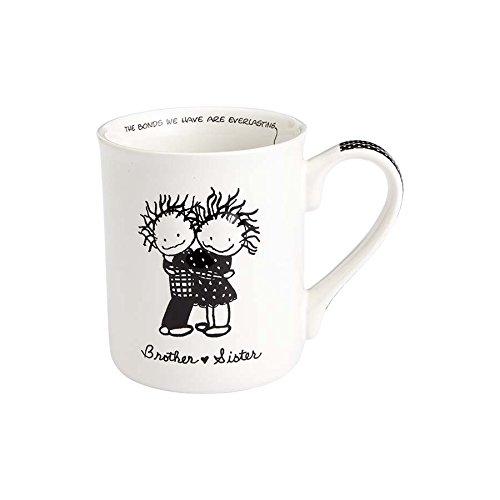 Enesco 4058324 Children of the Inner Light Brother and Sister Stoneware Coffee Mug, 16 oz, White (Enesco Mug)
