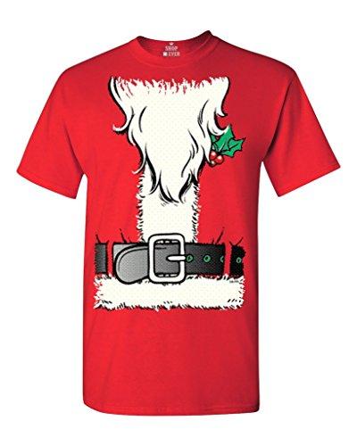[Shop4Ever Christmas Santa Costume T-shirt Xmas Shirts XXXXX-LargeRed 12259] (A Christmas Carol Costume Design)