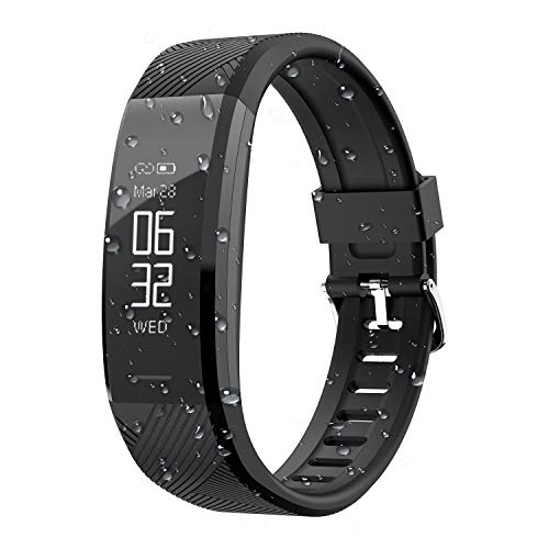 Fitness Tracker,Smart Watch Band Activity Tracker Bracelet Waterproof Bluetooth Smartwatch Wristband with Heart Rate Monitor Pedometer Sleep Monitor Step Calorie Counter for iPhone and Android Phones