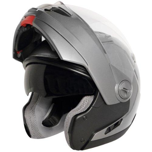 (Hawk ST-1198 Transition 2 in 1 Gun Metal Modular Helmet - Medium)