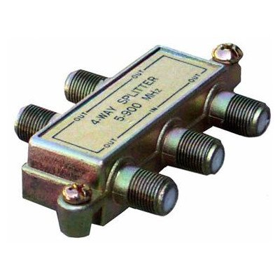 Morris 45052 4 Way Splitters with Ground Block Digital, 5-1000 MHz
