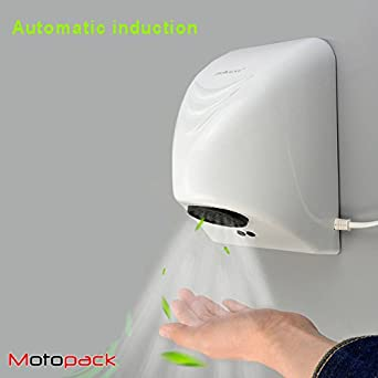 Motopack Mahd850 Automatic Hand Dryer Hot Air Dispenser With
