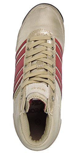 Boras 3043 Womens Sneakers Gold/Red x2IOC2