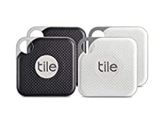 The NEW Tile Pro is our most powerful Bluetooth tracker for finding all your things. It has a 300 ft. range that's 2X our NEW Tile Mate. This durable, water-resistant tracker is also twice as loud, making it easier to find everything.