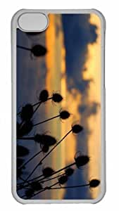 LJF phone case Customized iphone 5C PC Transparent Case - Thistle 2 Personalized Cover