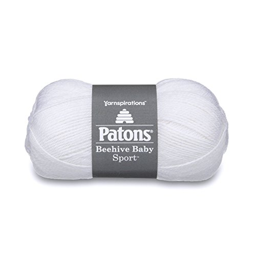 - Patons Beehive Baby Sport Yarn - Solids, Angel White