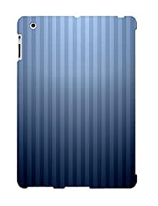 Brand New 2/3/4 Defender Case For Ipad (blue Stripes)