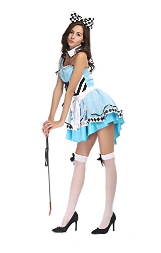 [Bulacker New Dream Wonderland Alice Halloween Costume,Blue,One size] (Cute Easy Group Costumes Ideas)