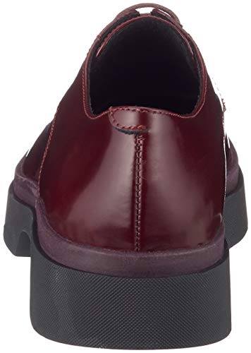 Mujer de Zapatos Myluse Geox Dk Burgundy C7357 para a Cordones D Derby axFn8qS