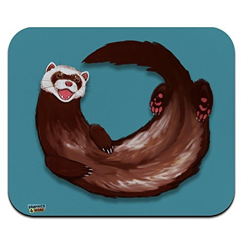 Happy Ferret Low Profile Thin Mouse Pad Mousepad ()