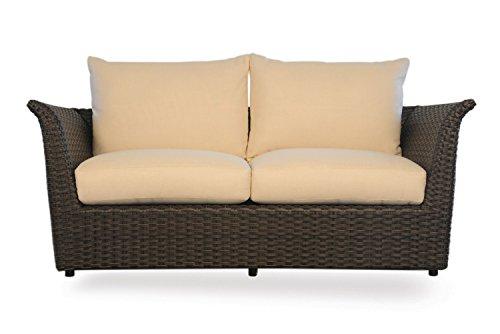 Lloyd Flanders Flair Love Seat , Espresso Vinyl & Rochelle Barley fabric