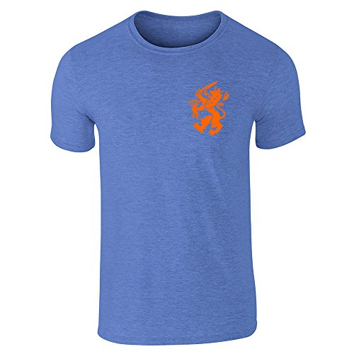 Dutch Soccer Retro National Team Halloween Costume Heather Royal Blue L Short Sleeve T-Shirt