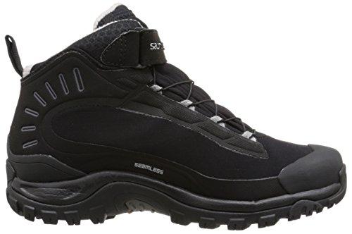 Salomon Women's Deemax 3 Ts Wp W Snow Boot, Black/Black/Aluminum, 5 M US Black/Black/Aluminium