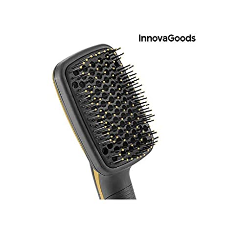 InnovaGoods Cepillo Eléctrico Secador y Alisador 1000W Negro Dorado - 500 gr: Amazon.es: Belleza