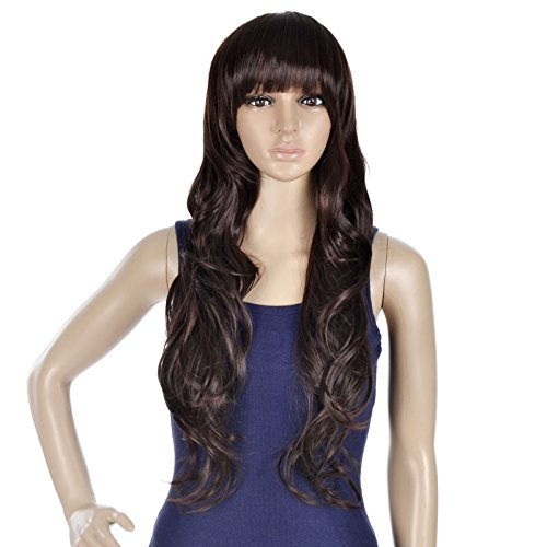 [EPYA Women's Long Curly Wavy Cosplay Hair Full Wigs Cosplay] (Medusa Costumes Wig)