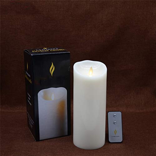 LED Candle Remote Control Light Wax Flameless Moving Wick Battery Powered Electronic Luminara for Home Decorative