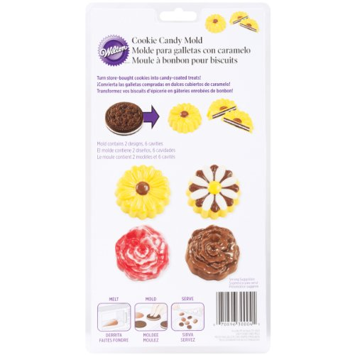 Wilton Daisy/Rose Cookie Candy Mold (Daisy Chocolate Molds)