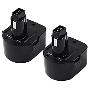 [2 Packs] ENERMALL 3.0Ah Ni-Mh Replacement for Dewalt 12V XRP Battery DW9071 DW9072 DC9071 DE9037 DE9071 DE9072 DE9074 Cordless Power Tools