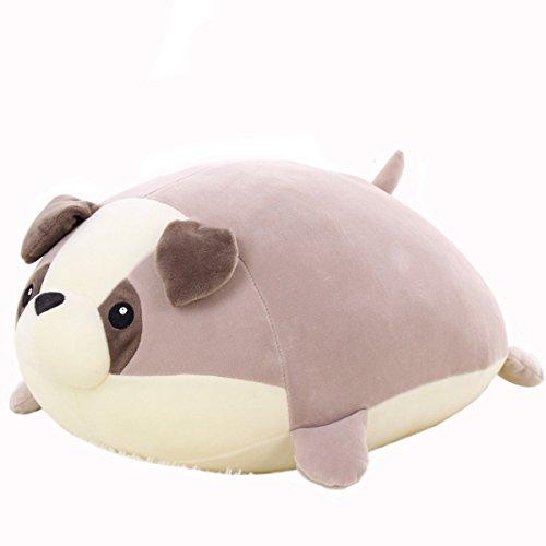 Price comparison product image HUAHUA STYLISH Cute Funny Dog Shaped Plush Pillows Soft Toys Doll Vent-Husky/Bulldog/Baster/Bernard Kids Birthday Gift