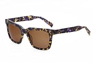 Hourvun Black Retro Square Sunglasses Women and Men with Green Lens Acetate Glasse