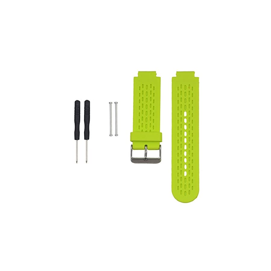 SCASTOE Sports Fitness Silicone Watch Band Strap for Garmin Vivoactive / Approach S2 S4 Lime