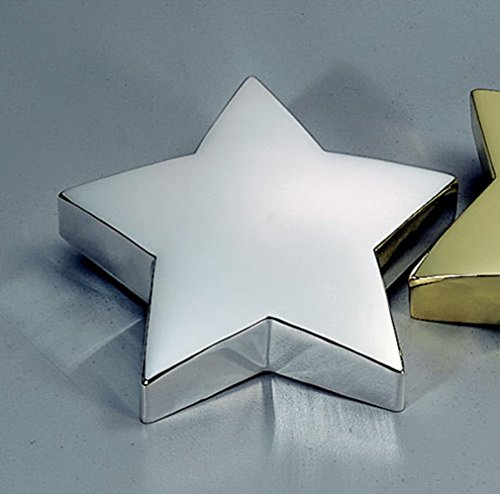 - Star Paperweight in Nickel Plated