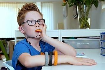 Collar sensorial con forma de placas de identificaci/ón Juguete para morder para autistas Chewigem