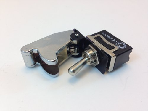 SAFETY TOGGLE SWITCH ON/OFF SPST 20 AMP WITH POSITION SWITCH COVER COLOR (CHROME) - Chrome Switch