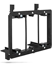 Low Voltage Mounting Bracket (3 Gang), Fosmon Low Voltage Mounting Bracket (Mounting Screws Included) for Telephone Wires, Network Cables, HDMI, Coaxial, and Speaker Cables