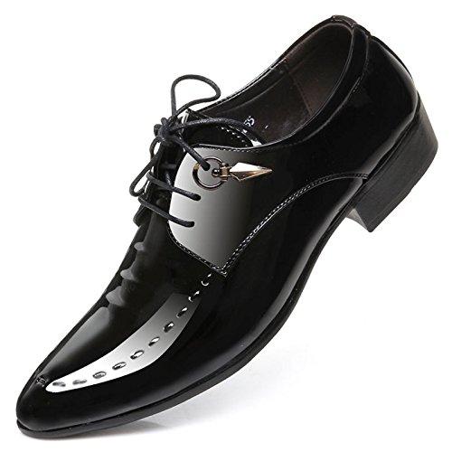 Punta Piedi di Pelle Pelle British Pelle Scarpa Nero Scarpa Vestito in Uomo Style per Oxfords Martin Elegante Scarpe Comfort Mocassini Uomo Scarpa Sintetica Affari qxPzw4Ev