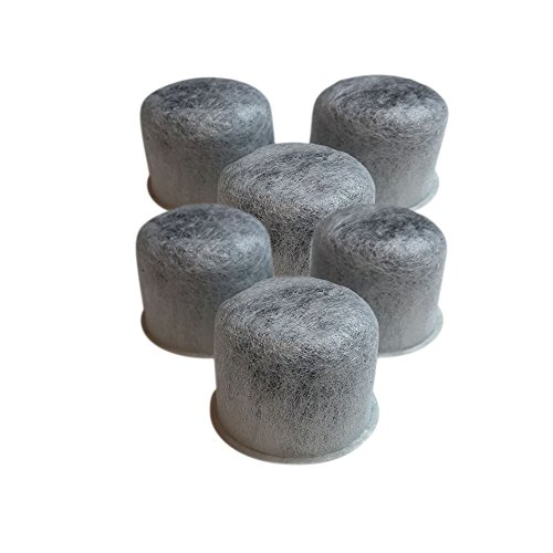 Think Crucial 6 Replacements for Capresso Charcoal Coffee Filters Fit 4440.90, TEAM 454 by Think Crucial