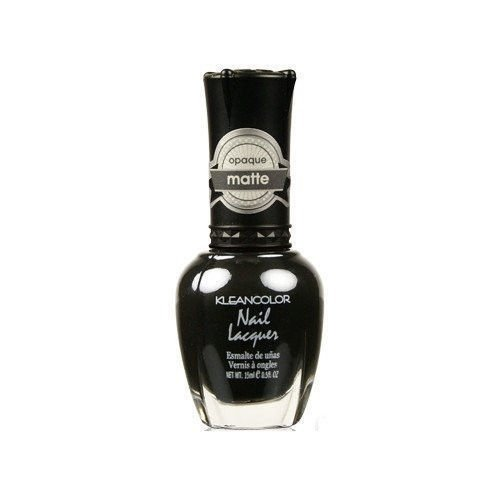 Kleancolor Nail Polish 265 Madly Black Nail Lacquer Matte Opaque