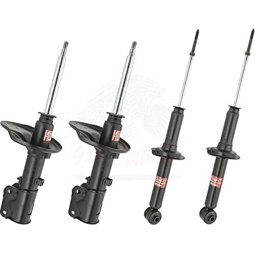KYB Quick Mount Kit of 4 Struts (Front + Rear) fits MITSUBISHI 3000GT 91-99 GR-2/EXCEL-G Twin Tube Gas Charged part number 335013, 341183 for Replacement, Performance, Leveling, Touring & 4x4 Offroad ()