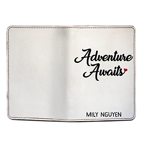 Adventure Awaits - Couple Passport Holder Personalized Passport Cover Set of 2 by With Love From Julie (Image #4)