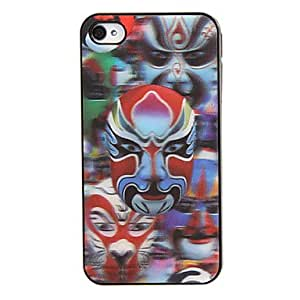 JJE Facial Makeup 3D Changing Pattern Protective Plastic Hard Back Case Cover for iphone 4/4S