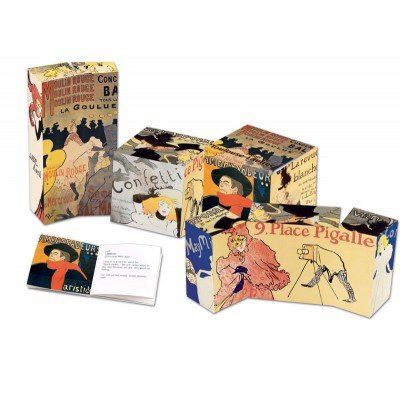 Made in Museum Toulouse Lautrec 3-D Art Cube Puzzle ()