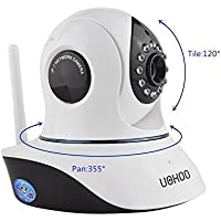 UOKOO HD Wireless Surveillance IP Security Camera, WiFi Camera with Email Alert/Pan&Tilt/Two-Way Audio/Night Vision C7838