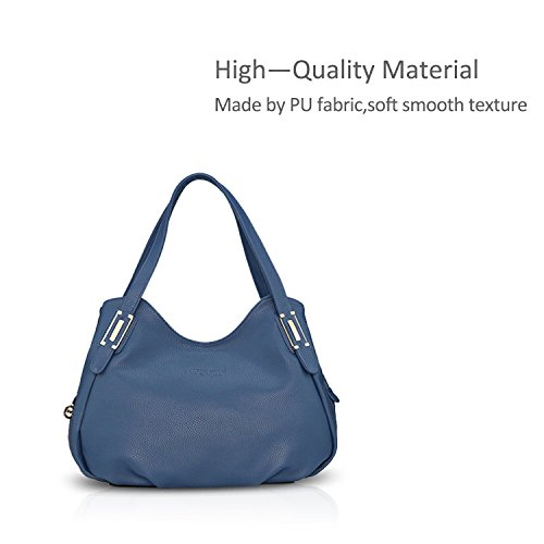 Hobo Shoulder Tote PU Blue Purse Black Bag Handbags Women Leather Crossbody Satchel Nicole Bag amp;Doris nIFqCwI8