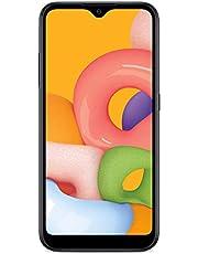 TracFone Samsung Galaxy A01 4G LTE Prepaid Smartphone - Black - 16GB - Sim Card Included -CDMA photo
