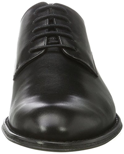 BIANCO Elegant Dress Shoe 52-71315, Scarpe Stringate Uomo Nero (Black)